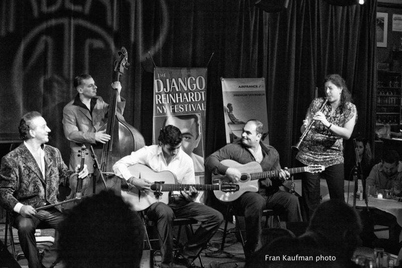 Guest artist, clarinetist Anat Cohen, takes a solo at the sold-out Django Reinhardt Festival at Birdland, November 5, 2010.