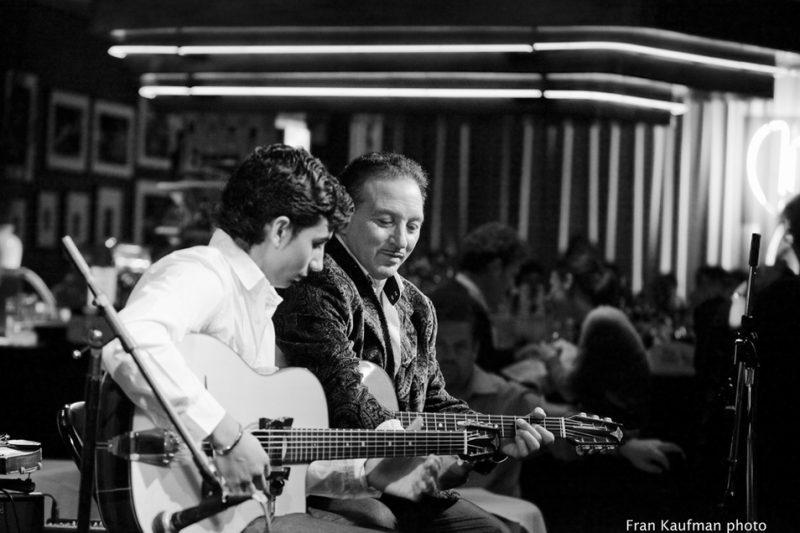 Amati Schmitt and Dorado Schmitt  on guitars at the Django Reinhardt Festival