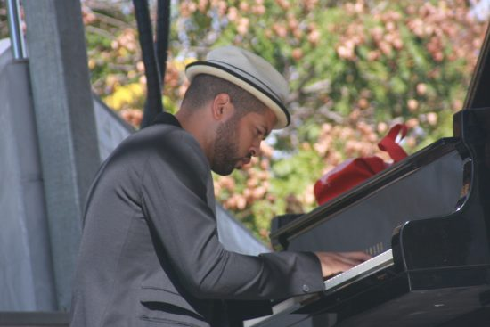 Jason Moran performs with Bandwagon at the 2010 Rosslyn Jazz Festival image 0