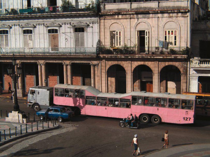 Camel bus in Havana