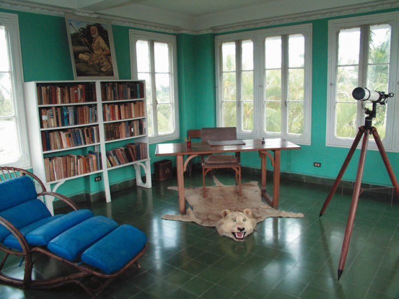 "Hemingway's writing room: This is the room where Ernest Hemingway wrote ""The Old Man and the Sea"".  Part of his house at ""la vigia"" farm, it is now a museum."