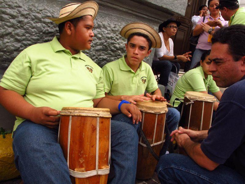 Performance on street during 2011 Panama Jazz Festival