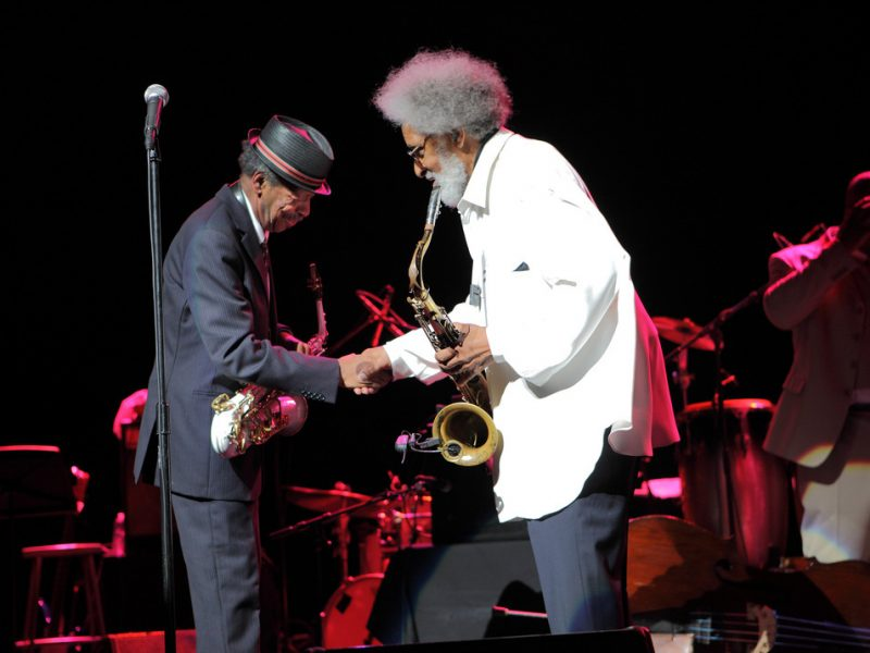 Ornette Coleman helps Sonny Rollins celebrate his 80th at NYC's Beacon Theatre; Sept. 10, 2010