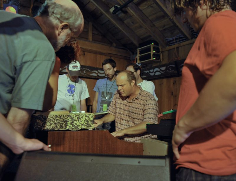 John Medeski at workshop during Camp MMW