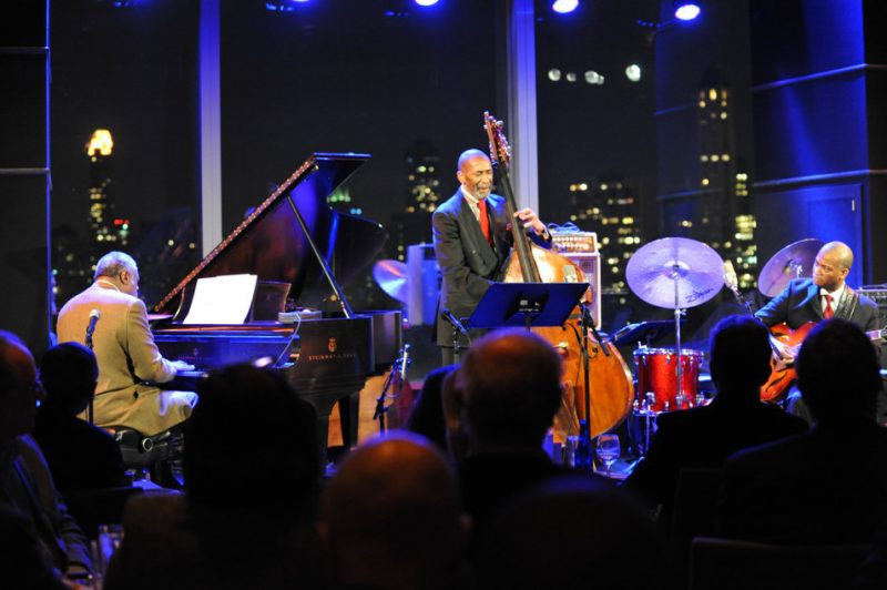 Mulgrew Miller, Ron Carter and Russell Malone at the 3rd annual Playing Our Parts benefit concert in memory of bassist Dennis Irwin