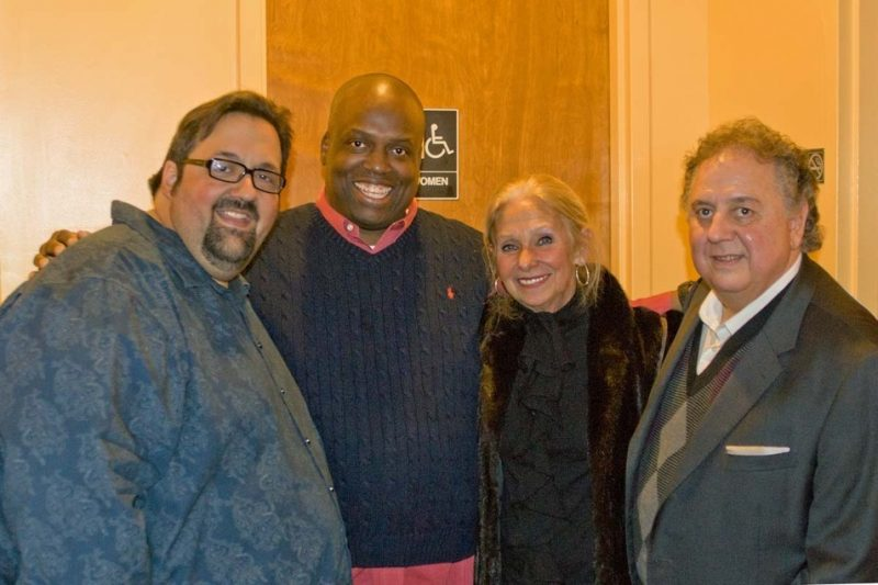 Joey DeFrancesco, Carl Redding, Geri Taber and Joe Donofrio at Redding's in Atlantic City