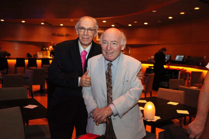 Todd Barkan and George Wein at Dizzy's Club Coca Cola on October 24, 2010
