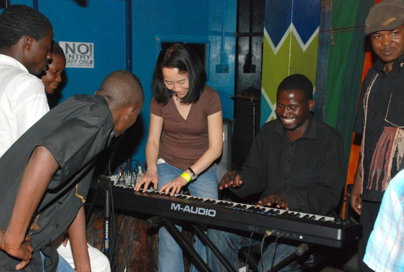 Helen Sung of Helen Sung & NuGenerations instructs musicians in Harare