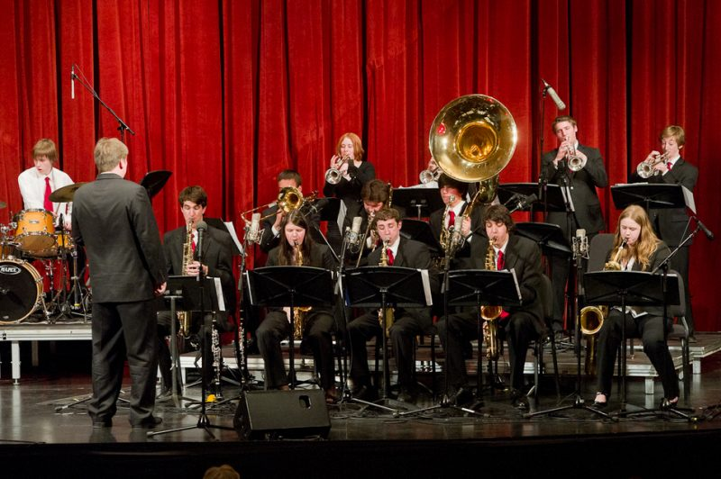 Winner of Best Big Band (regular): Medfield High School Jazz Ensemble 1, Medfield, MA, Douglas Olsen, band director