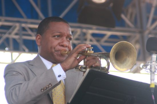 Wynton Marsalis performing with Dave Brubeck at CareFusion Newport Jazz Festival 2010 image 0