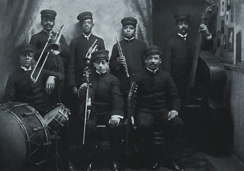 """From Ken Burns' Jazz: The Original Superior Orchestra (New Orleans, ca, 1908) specializes in variations on ragtime, appearing in Episode 1 (""""Gumbo,"""" Beginnings-1917)"""