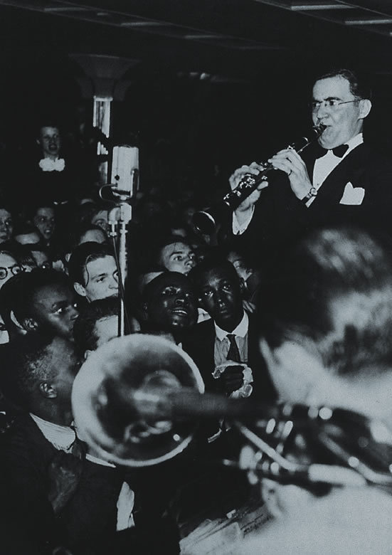 """From Ken Burns' Jazz: Benny Goodman, """"The King of Swing,"""" at the Savoy Ballroom from Episode 5 (""""Swing: Pure Pleasure,"""" 1935-1937)"""