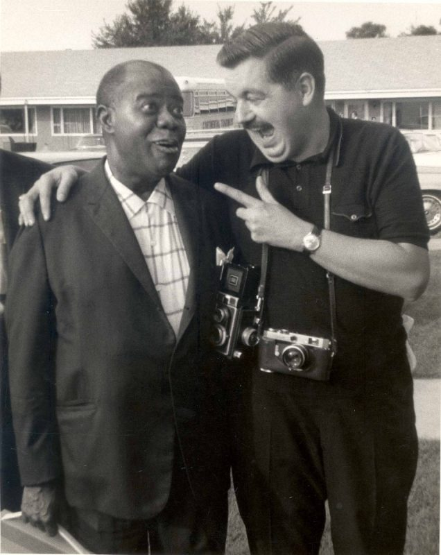 Jack Bradley with Louis Armstrong - photo courtesy of Louis Armstrong House Museum, Jack Bradley Collection.