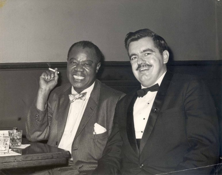 Jack Bradley with Louis Armstrong