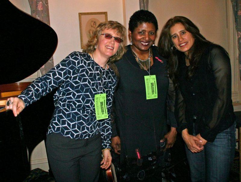 Sheryl Bailey, Kim Clarke and Sylvia Cuenca at the 2011 Cape May Jazz Festival