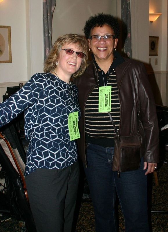 Sheryl Bailey and Monnette Sudler hanging out at the 2011 Cape May Jazz Festival