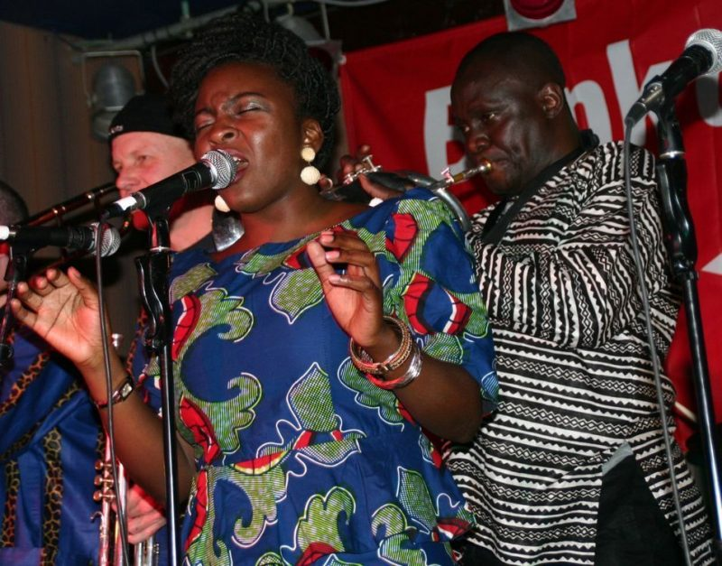 Rotimi Hundeyin and the Afrophonic Rhythms Crew at the 2011 Cape May Jazz Festival