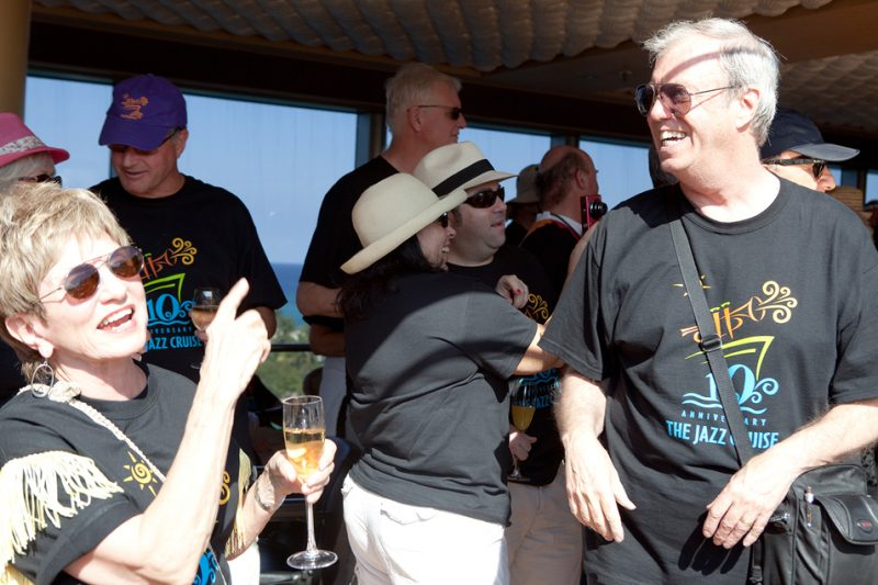 Butch Miles at the Annual T-Shirt Party on The Jazz Cruise 2011