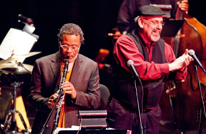 Don Byron and cantor Jack Falk performing at 2011 Portland Jazz Festival