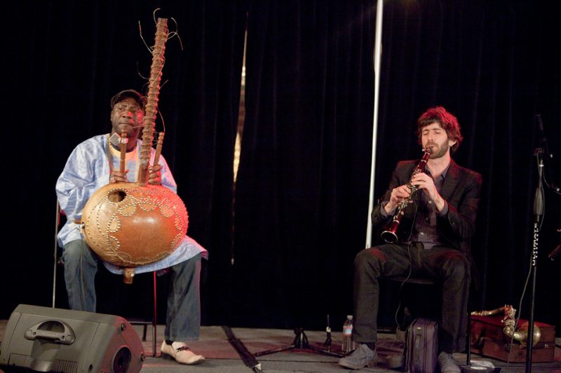 Performance by Yacouba Sissokoko and Oran Etkin at 2011 Portland Jazz Festival