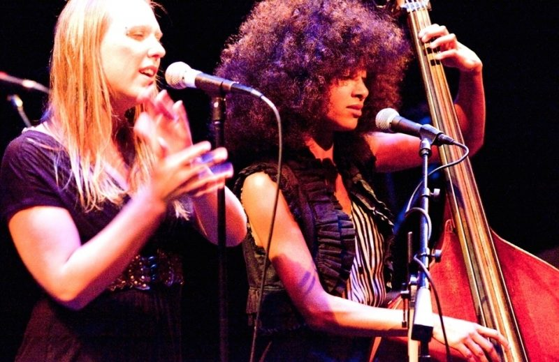 Leala Cyr and Esperanza Spalding performing at the 2011 Portland Jazz Festival