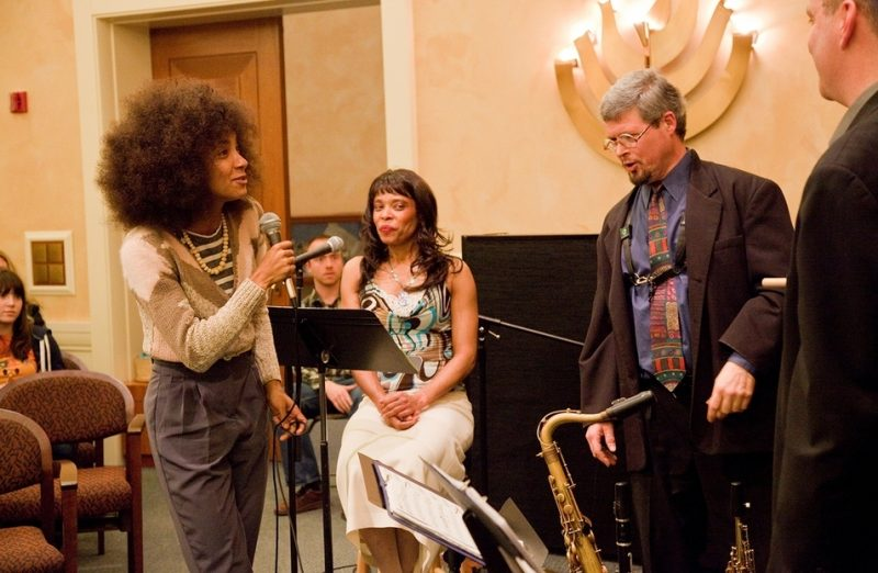 Esperanza Spalding at workshop at 2011 Portland Jazz Festival