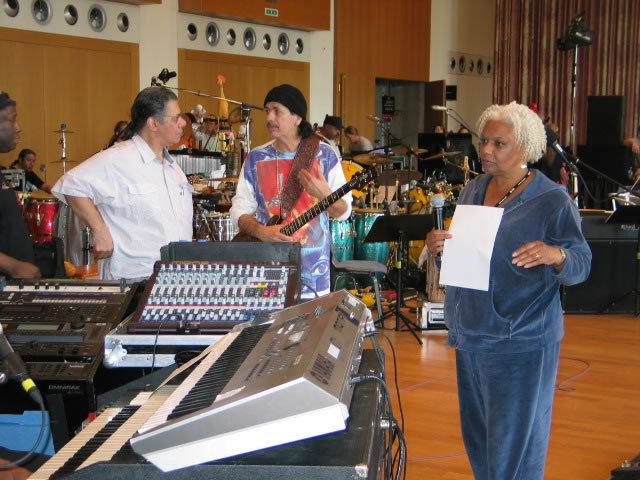 Barbara Morrison with Chick Corea and Carlos Santana