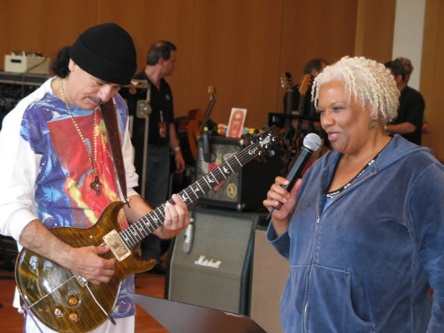 Carlos Santana and Barbara Morrison