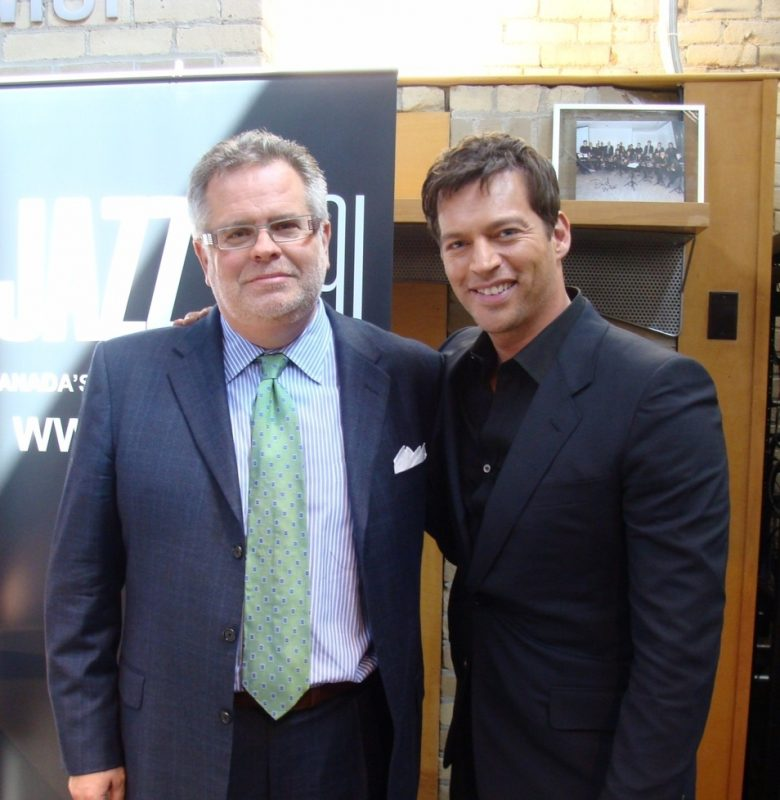 Ross Porter and Harry Connick, Jr.