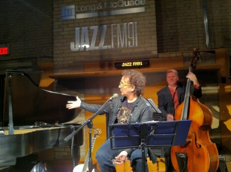Marc Jordan in performance at Jazz-FM91 studios