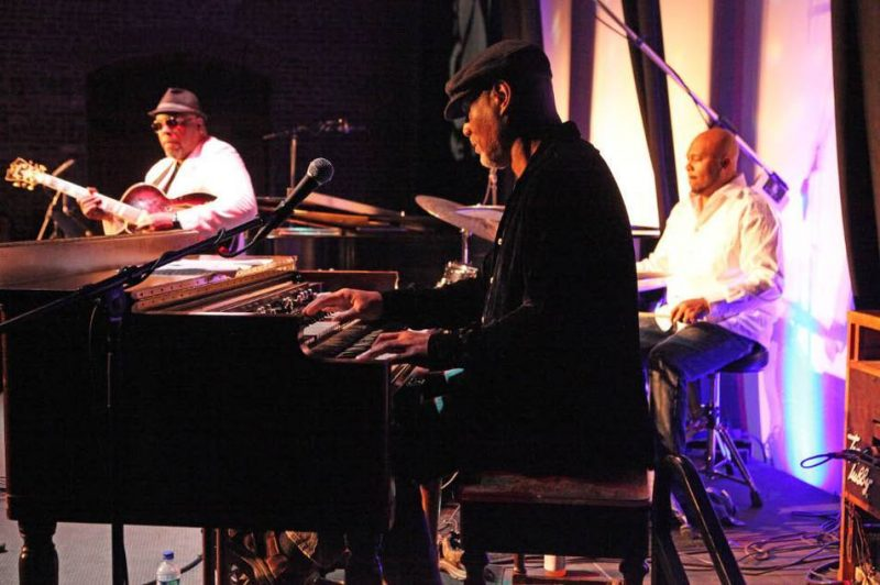 Grant Green, Jr., Ike Stubblefield, and Marcus Williams at 2011 Savannah Music Festival
