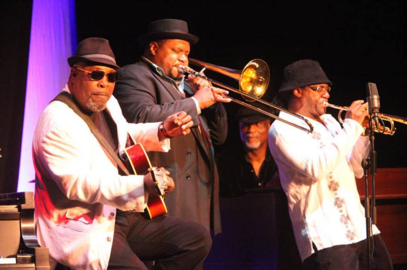 Grant Green, Jr., Wycliffe Gordon, Ike Stubblefield, and Marcus Printup at 2011 Savannah Music Festival