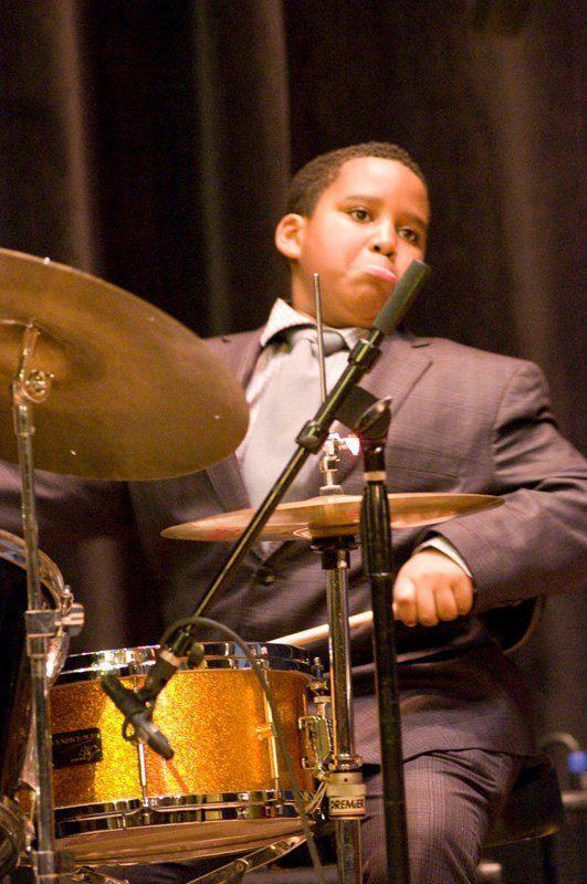 11-year-old drummer Nazir Zbo
