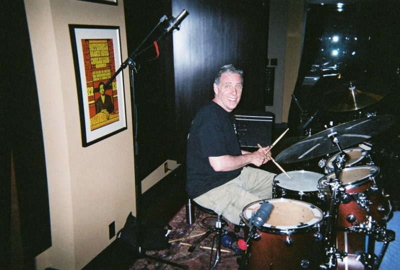 Super Drummer Mike Clark recording for Tony Adamo Jerry Stucker producing