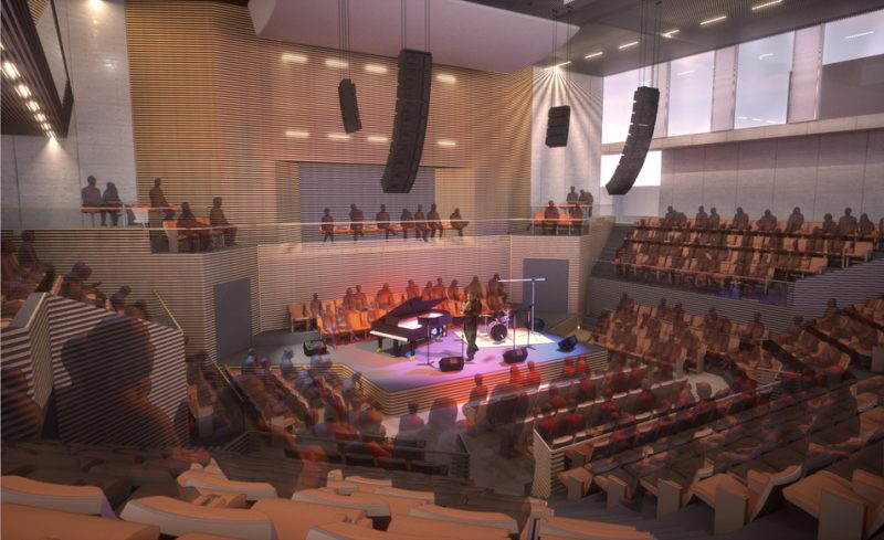 Drawing of inside of 35,000 sq. ft. building for SFJAZZ to be completed by Fall of 2012