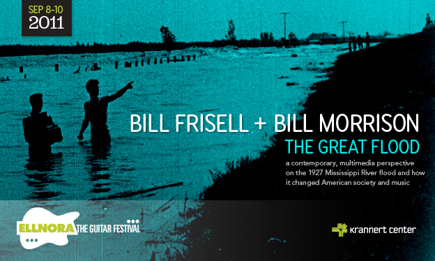 Poster for The Great Flood, multimedia collaboration between Bill Frisell and Bill Morrison