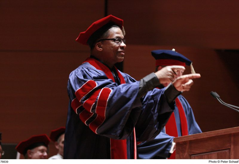 Herbie Hancock at Juilliard's 106th Commencement Ceremony receiving his honorary degree