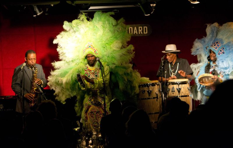 Donald Harrison Jr., Cyril Neville and Mardi Gras Indians, Jazz Standard,  NYC