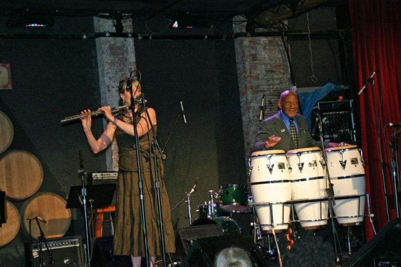 Jane Bunnett with Candido performing at the 2011 JJA awards ceremony at City Winery in NYC