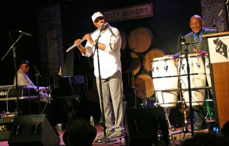 Randy Weston, T.K. Blue and Candido performing at the JJA awards ceremony on June 11, 20011 at City Winery in NYC