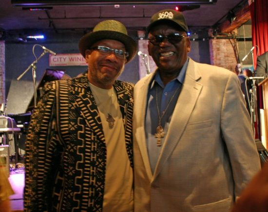 Willard Jenkins and Randy Weston at the JJA awards ceremony on June 11, 20011 at City Winery in NYC image 0