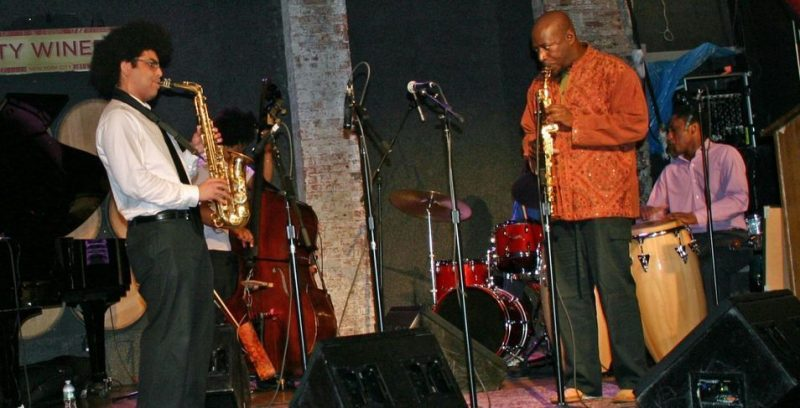 Arnold Lee and Antoine Roney performing at the JJA awards ceremony on June 11, 20011 at City Winery in NYC