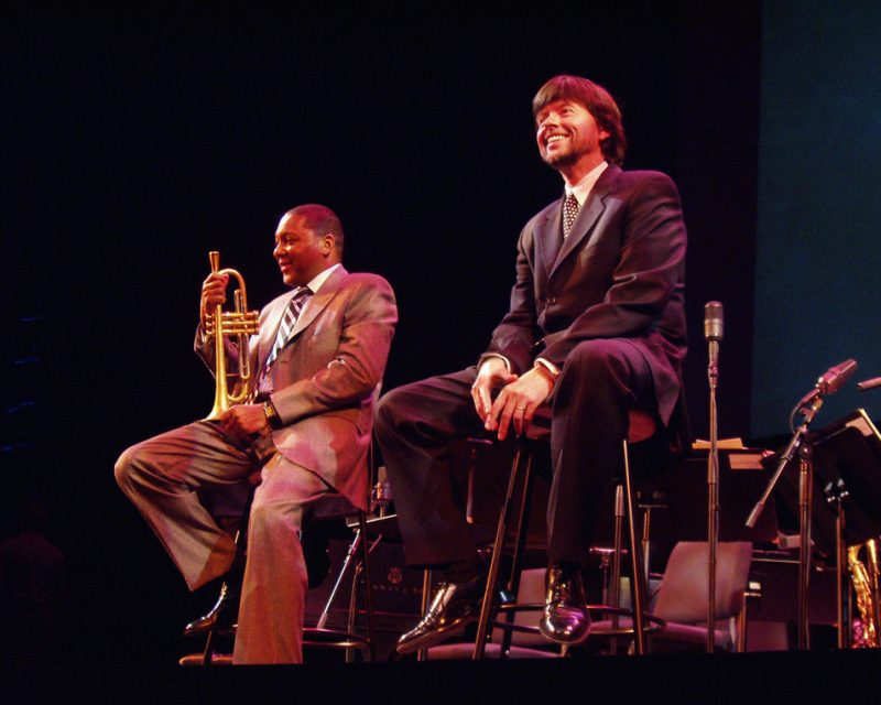 Ken Burns with Wynton Marsalis
