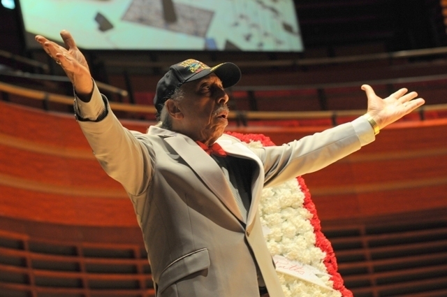 Mr. C at memorial celebration for Trudy Pitts on June 4, 2011 at the Kimmel Center in Philadelphia