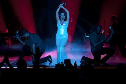 Sade performing at the Wells Fargo Center in Philadelphia on June 19, 2011