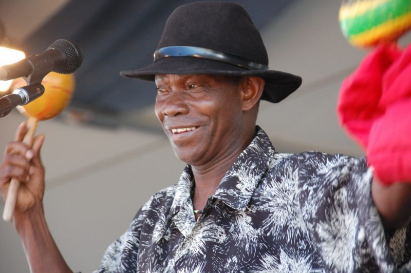 "David ""Ti Coca"" Mettelus from Haiti at the 2011 New Orleans Jazz & Heritage Festival"