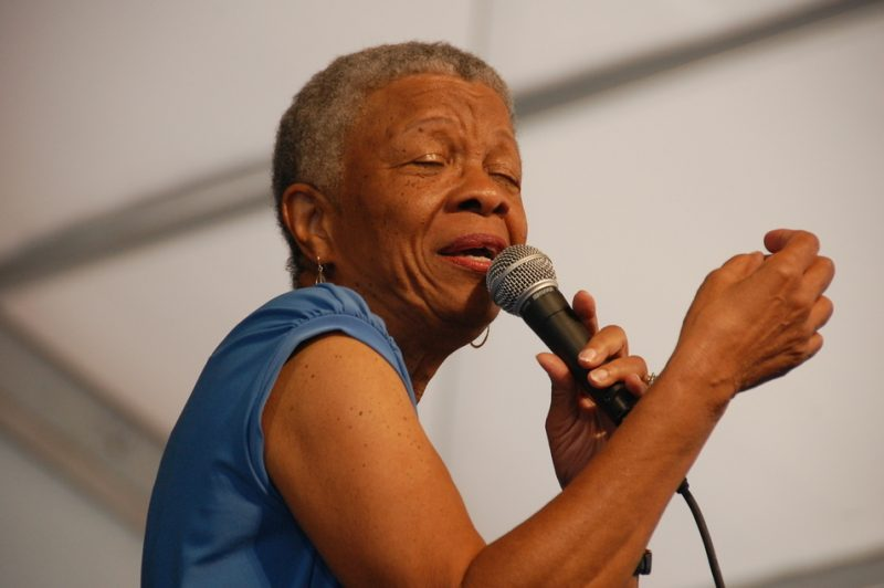 Germaine Bazzle at the 2011 New Orleans Jazz & Heritage Festival