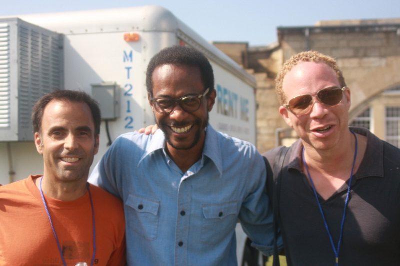 David Binney, Brian Blade and Craig Taborn backstage at CareFusion Newport Jazz Festival 2010