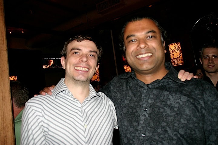 Darcy James Argue and Rudresh Mahanthappa at JJA awards in NYC