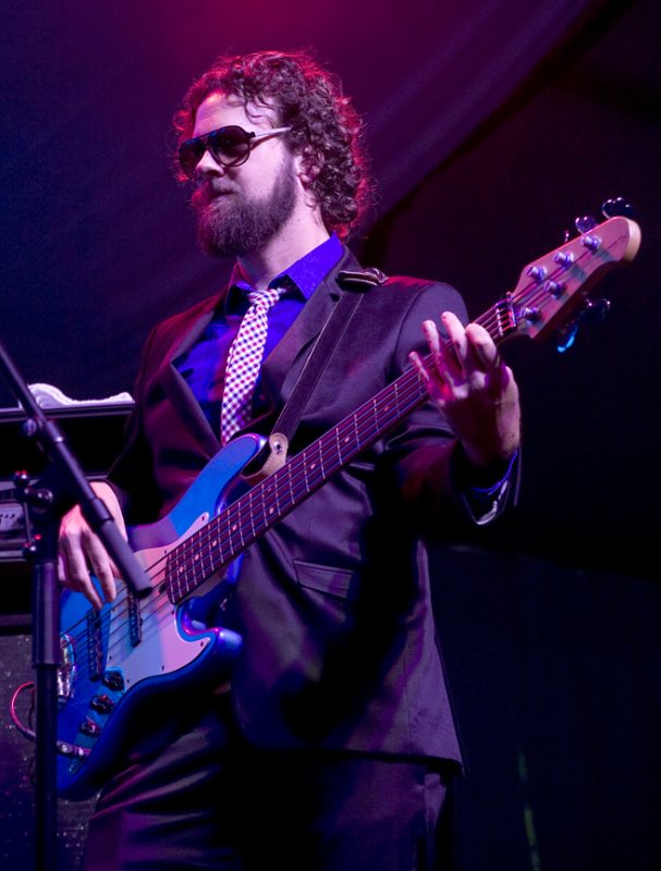 Bassist Trevor Mills with Digging Roots in performance at 2011 TD Toronto Jazz Festival